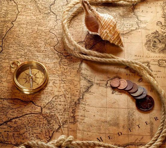 Фотообои Карта и компас 13924