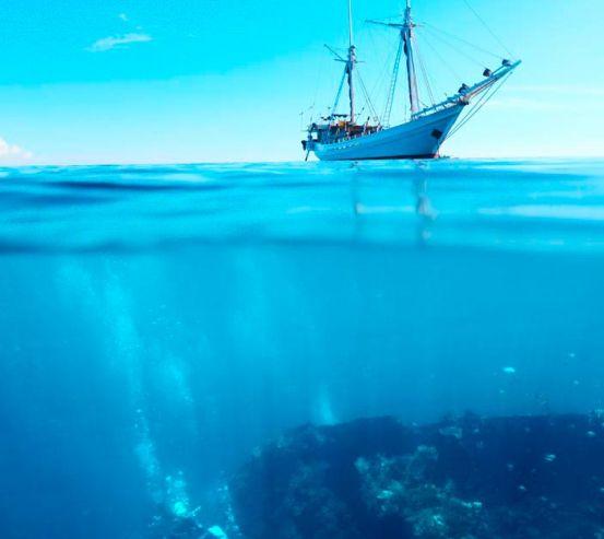 Фотообои Яхта и глубина 7026