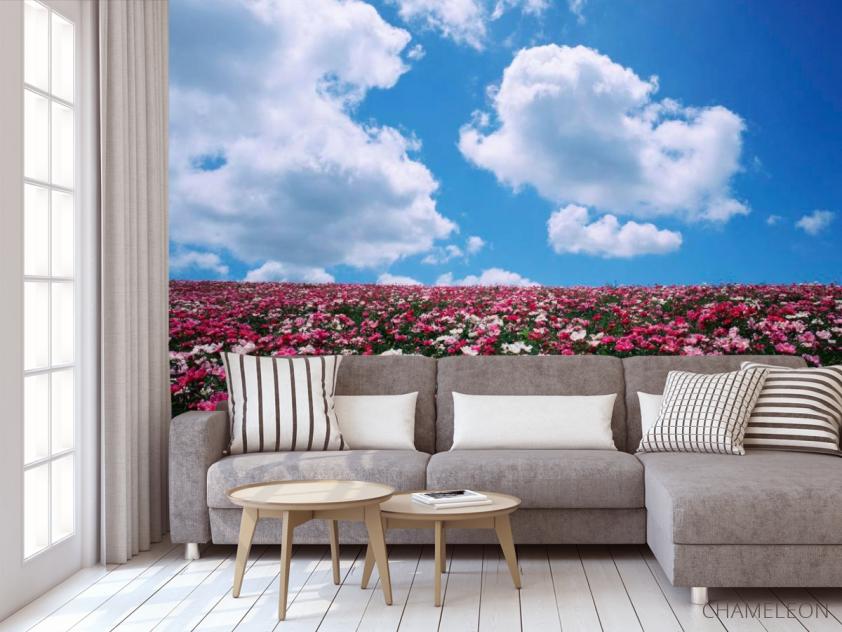 Фотообои Цветы, небо, тучи - 3