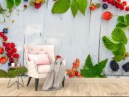 Фотообои ягоды на деревянном фоне - 4