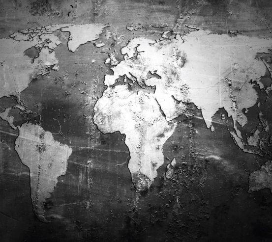 Фотошпалери Карта на чорному 28935