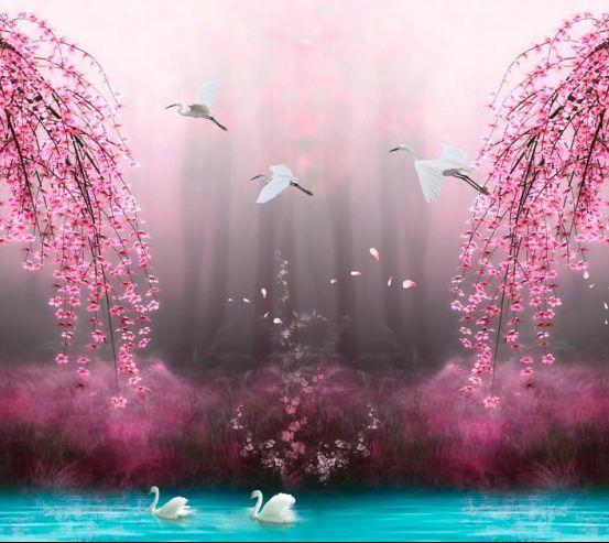 Фотообои Цветущие деревья 19880