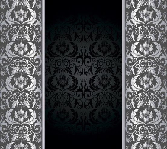 Фотообои Вензельные узоры на чёрном фоне 14671