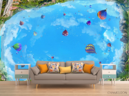 Фотообои Воздушные шары на потолок - 1