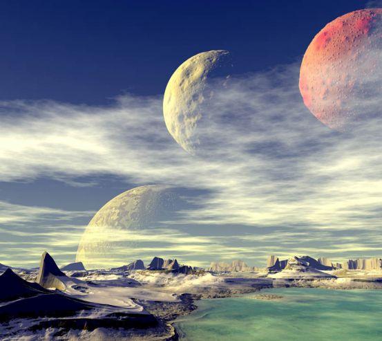 Фотообои Космическая поверхность 23362