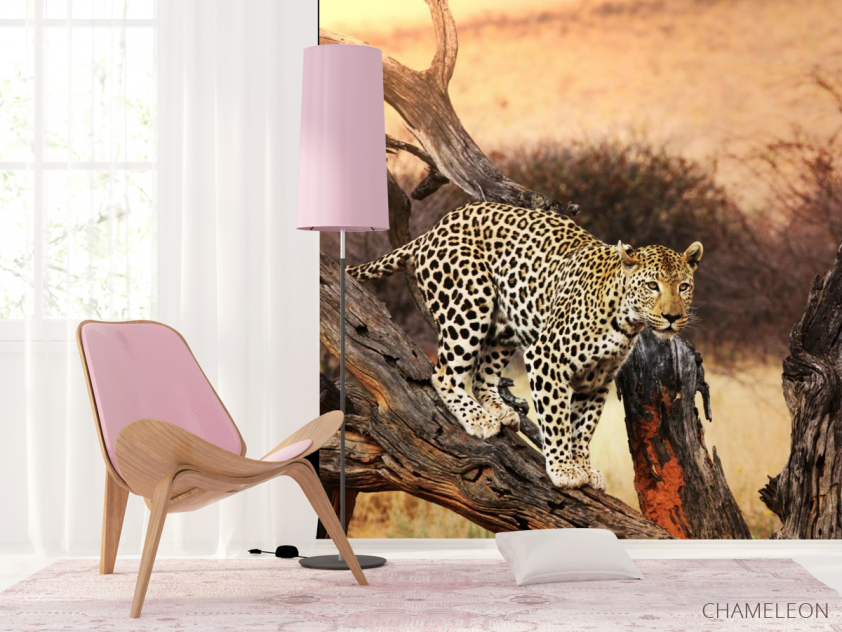 Фотообои леопард на ветке - 4