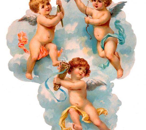 Фотообои Ангелы-музыканты 7261