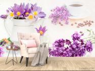 Фотообои в кухню Цветы - 4