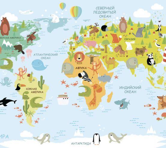 Фотообои Карта в детскую  24143