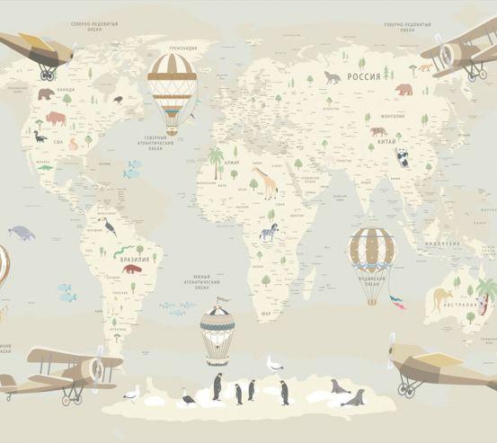 Фотообои Карта в детскую  24136