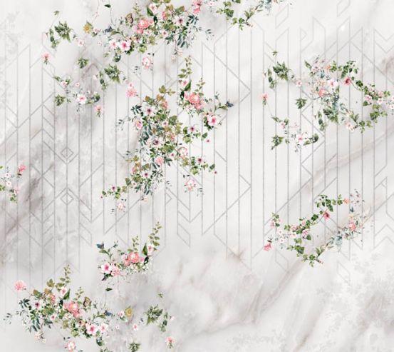 Фотошпалери Ніжні квіти на атласі 24260