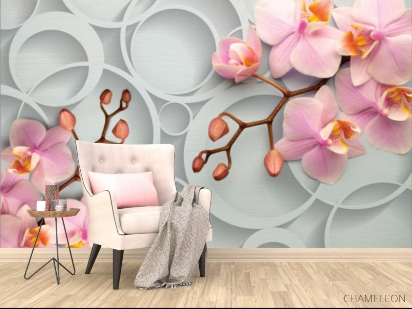 Фотообои Розовые орхидеи - 4