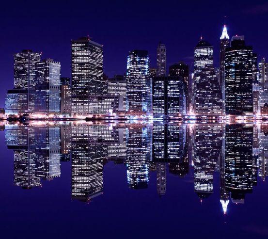 Фотообои Отражение New Yorkа в воде 8762