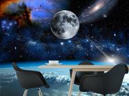Фотообои космос и луна над олаками - 1