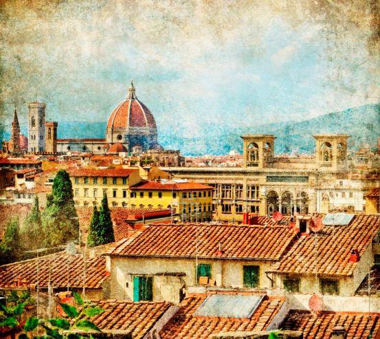 Фотообои Вид на старинный город 1182