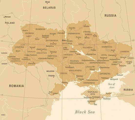 Фотошпалери Адміністративна карта України 23572