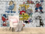 Фотообои 3д стена с граффити - 4