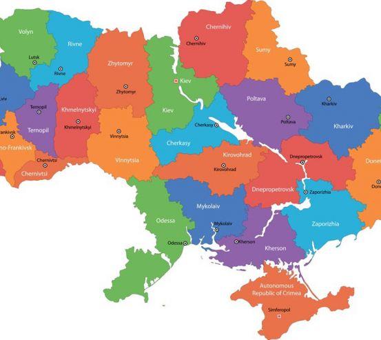 Фотообои Карта Украины 9106