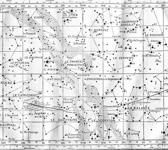 Фотообои Винтажная карта звездного неба 25938