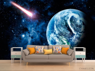 Фотообои Земля и комета - 1