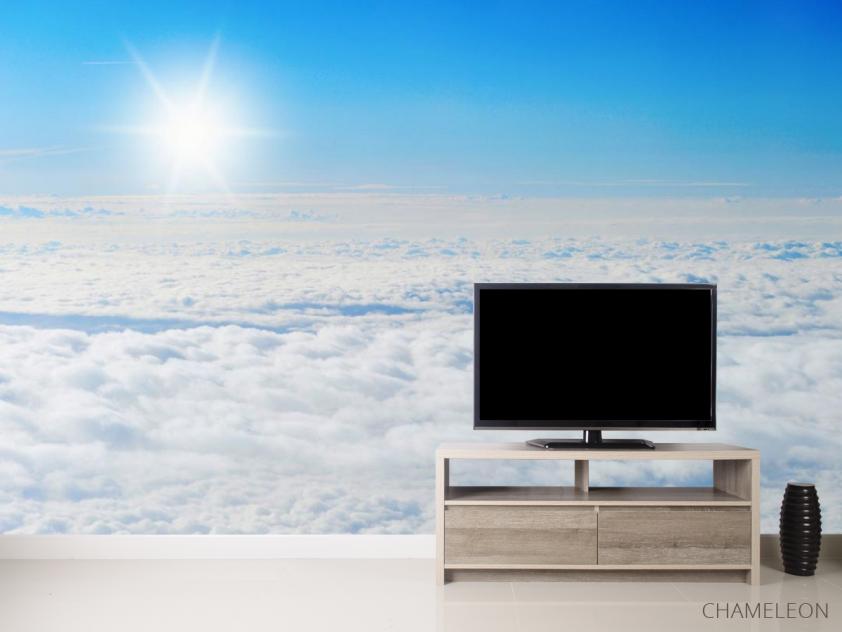 Фотообои солнце над облаками - 2