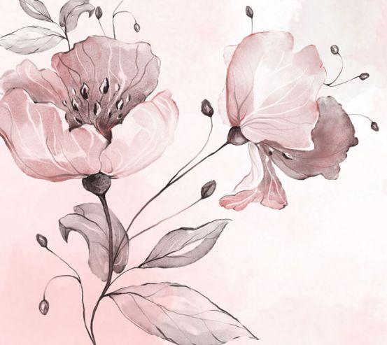 Фотообои Акварельный цветок 24030