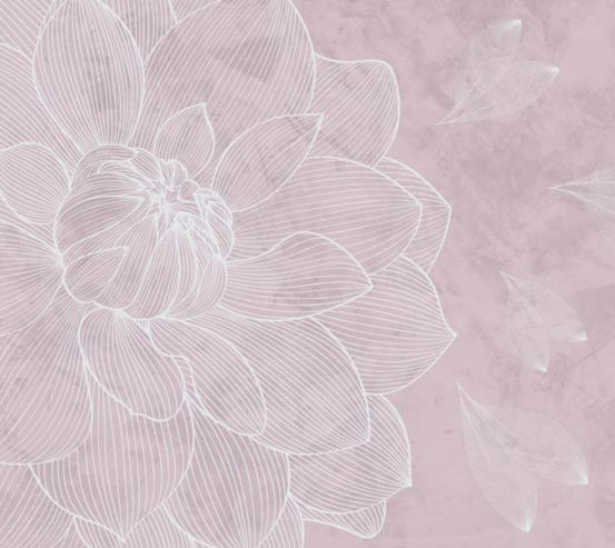 Фотообои Розовый векторный цветок 24029_3