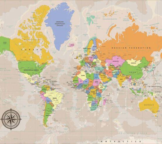 Фотообои Карта 19748