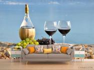 Фотообои красное вино на берегу - 1