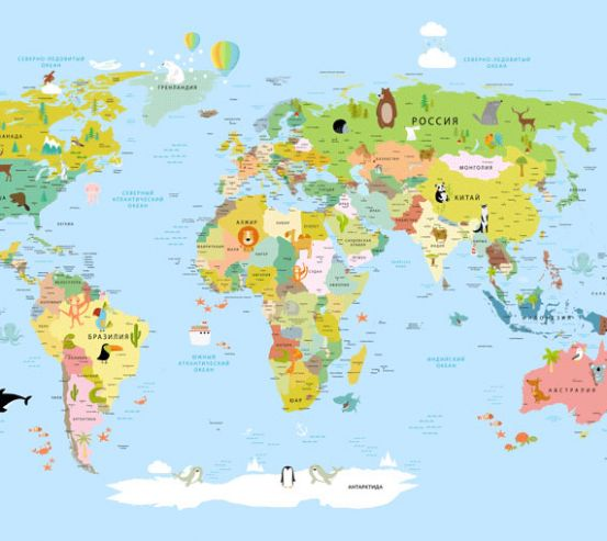Фотообои Карта в детскую  24141