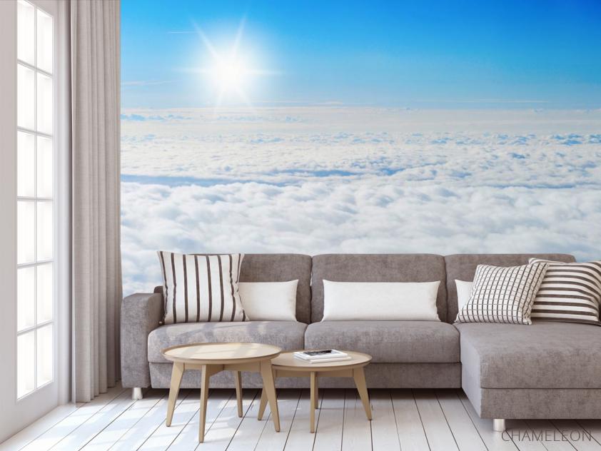 Фотообои солнце над облаками - 3