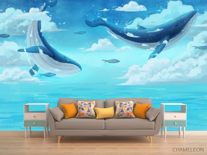 Фотообои Два кита в море - 1
